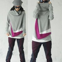 Patchwork Long T Shirt by yuan123 on Etsy