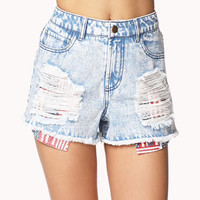 American Flag Pocket Cut Offs