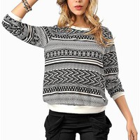 Tribal Rival Sweatshirt - Ivory/Black at Necessary Clothing