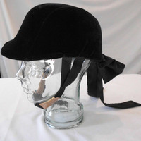 RIDING  Dress HAT/ COVER Black Velvet