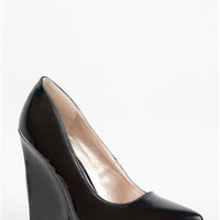 Qupid MEESTER-01 Pointed Toe Wedge Pump | Shop Qupid Shoes