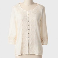 Simple Song Embroidered Blouse at ShopRuche.com