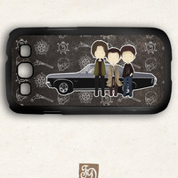 Samsung Galaxy S3 case cute TEAM FREE WILL , Supernatural, Sam and Dean Winchester , Castiel , Impala