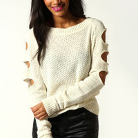 Rhianna Fisherman Knit Slash Back Jumper