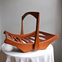 Dansk Teak Magazine Rack by Jens Quistgaard IHQ Danish Modern 1950s