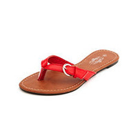 Buckle Strap Flip Flop: Charlotte Russe