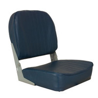 Low-Back Folding Seat, Blue - Springfield Marine