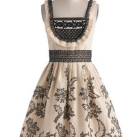 Anna Sui Gown On the Farm Dress | Mod Retro Vintage Dresses | ModCloth.com