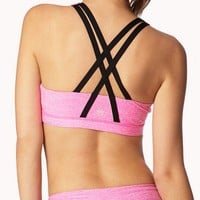 Medium Impact - Heathered Sports Bra | FOREVER 21 - 2046512631