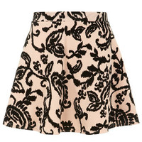 Nude flocked skater skirt - Skirts  - Clothing