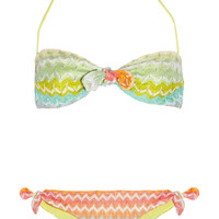 Missoni Calais crochet-knit bandeau bikini  69% at THE OUTNET.COM