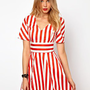 Lavish Alice Skater Dress In Stripe at asos.com