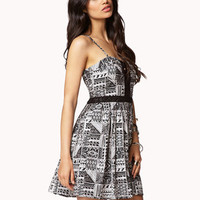 Crochet Trimmed Fit & Flare Dress | FOREVER 21 - 2052054472