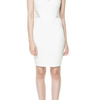COMBINATION TUBE DRESS WITH LACE - Dresses - TRF - ZARA United States