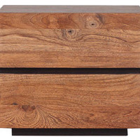 form teak nightstand with 2 drawers - ABC Carpet & Home