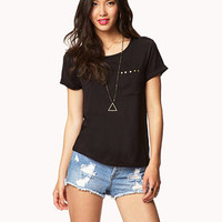 Essential Studded Pocket Tee | FOREVER 21 - 2052173353
