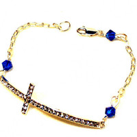 Cross Bracelet - Sterling silver chain