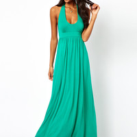 ASOS Plunge Halter Maxi Dress