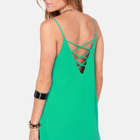 Princess Beach Sea Green Shift Dress