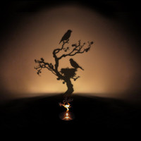 Tree Shadow Projecting Oil Lamp