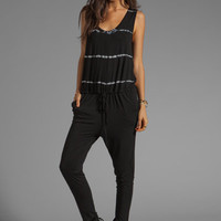 Young, Fabulous &amp; Broke Gracie Jumpsuit in Black Super Skinny Stripe from REVOLVEclothing.com