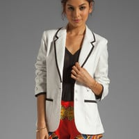 Lovers + Friends x BECAUSE IM ADDICTED Addicted to Love Blazer in Cream from REVOLVEclothing.com