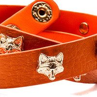 MKL Accessories Foxy Lady Wrap Bracelet in Orange