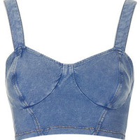Petite Denim Look Bralet - New In This Week  - New In