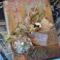 Wedding Guest Book - Shabby chic style -Custom