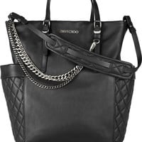 Jimmy Choo|Blare chain-embellished leather tote|NET-A-PORTER.COM