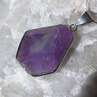 Purple Amethyst Crystal Gemstone Pendant