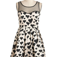 Emily and Fin Day after Day Dress in Hearts | Mod Retro Vintage Dresses | ModCloth.com