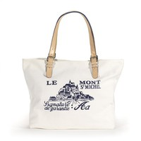 Le Mont St Michel Canvas Bag with Mont St Michel Logo