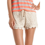 Tie-Waist Crochet Short: Charlotte Russe