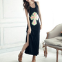 FREE SHIPPNG Black Slim Fitting Long Dress HXA2024b