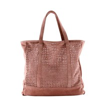 AVRIL GAU Perforated Suede Bag