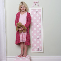 Pink Polka Dotted Growth Chart