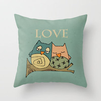 Love Throw Pillow by Carina Povarchik