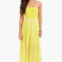 Kahlia Pleated Maxi Dress $50
