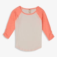 Ruffled Sleeve Baseball Tee (Kids)