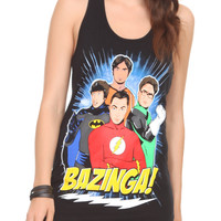 The Big Bang Theory DC Comics Heroes Girls Tank Top | Hot Topic