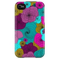 Uncommon Capsule Hard Case for iPhone 4 - AT&T and Verizon - 1 Pack - Retail Packaging - Spiral Floral Magenta: Cell Phones & Accessories