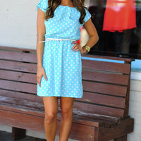 Brigitte Bardot Dress: Sky Blue/White | Hope&#x27;s