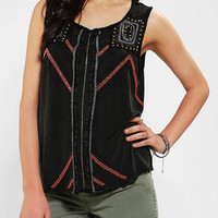 Urban Outfitters - Ecote Beaded Mineralized Muscle Tee