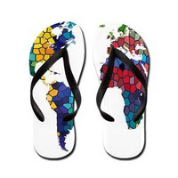 World Map Flip Flops&gt; California Flip Flops&gt; After My Art by Catherine Holcombe