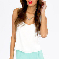Layered Scallop Shorts $29