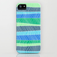 Beach Stripe (Cool) iPhone & iPod Case by Jacqueline Maldonado
