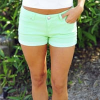 I'll Make You Mine Shorts: Mint | Hope's
