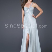 Graceful Chiffon One-shoulder Empire Waistline Evening Dress-SinoSpecial.com