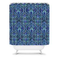 DENY Designs Home Accessories | Aimee St Hill Ogee Blue Shower Curtain